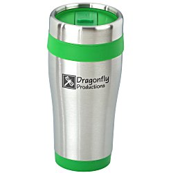View a larger, more detailed picture of the Steel Tumbler with Color Trim - 16 oz - 24 hr