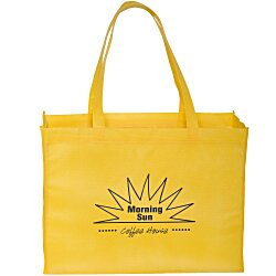 View a larger, more detailed picture of the Gusseted Polypropylene Tote - 16 x 12 - 24 hr