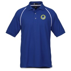 View a larger, more detailed picture of the Moisture Management Polo with Piping - Men s