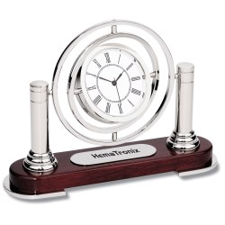 View a larger, more detailed picture of the Rosewood Spin Clock