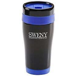 View a larger, more detailed picture of the Black Stainless Steel Tumbler - 16 oz