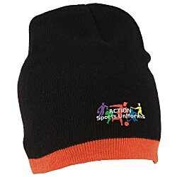 View a larger, more detailed picture of the Knit Beanie with Stripe