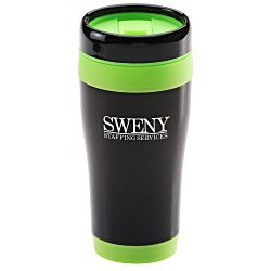 View a larger, more detailed picture of the Black Stainless Steel Tumbler - 16 oz - 24 hr