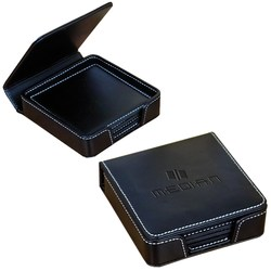 View a larger, more detailed picture of the Leather Coaster Set - Debossed
