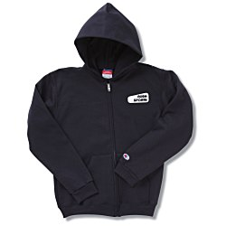 View a larger, more detailed picture of the Champion Full-Zip Hoodie - Youth - Screen