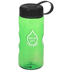 View a larger, more detailed picture of the Mini Mountain Sport Bottle with Tethered Lid - 22 oz