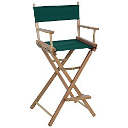 View a larger, more detailed picture of the Directors Chair - Bar Height - Blank