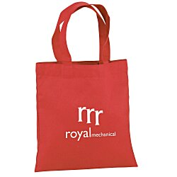 View a larger, more detailed picture of the Cotton Sheeting Colored Economy Tote - 9-1 2 x 9 - 24 hr
