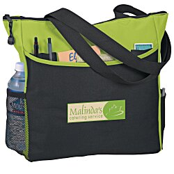 View a larger, more detailed picture of the Two-Tone Tote Bag - Full Color