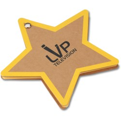 View a larger, more detailed picture of the V Natural Kraft Jotter - Star