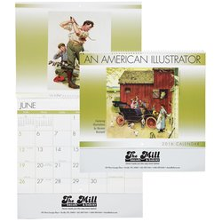 View a larger, more detailed picture of the An American Illustrator 2015 Calendar - Spiral - Closeout