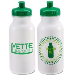 View a larger, more detailed picture of the Sport Bottle w Push Pull Cap - 20 oz - Just Say No