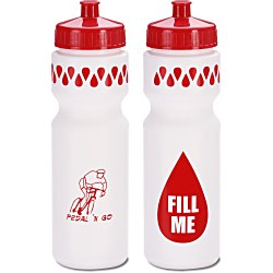 View a larger, more detailed picture of the Sport Bottle w Push Pull Cap - 28 oz - Fill Me