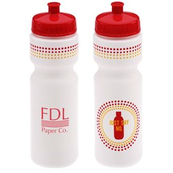 View a larger, more detailed picture of the Sport Bottle w Push Pull Cap - 28 oz - Just Say No
