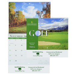 View a larger, more detailed picture of the Golf Landscapes 2015 Calendar - Spiral - Closeout