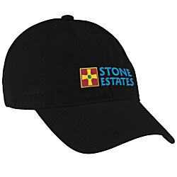 View a larger, more detailed picture of the Brushed Washed Cotton Twill Cap - Embroidered