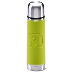 View a larger, more detailed picture of the Leatherette Vacuum Bottle - 16 oz - Debossed