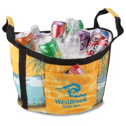 View a larger, more detailed picture of the Life-of-the-Party Tub Cooler - Beach