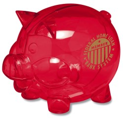 View a larger, more detailed picture of the The Bank R Piggy Bank - 24 hr