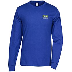 View a larger, more detailed picture of the Hanes Tagless 6 1 oz LS T-Shirt - Embroidered - Colors