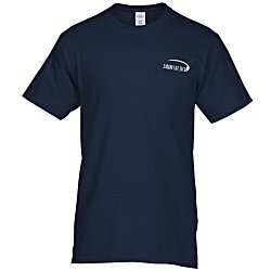 View a larger, more detailed picture of the Hanes Tagless 6 1 oz Pocket T-Shirt - Screen - Colors