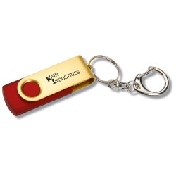 View a larger, more detailed picture of the Swing USB Drive - Gold - 1GB