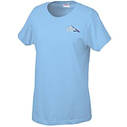 View a larger, more detailed picture of the Gildan 6 1 oz Ultra Cotton T-Shirt - Ladies - Emb - Colors