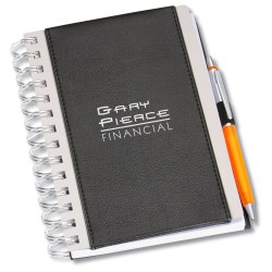 View a larger, more detailed picture of the Aluminum Notebook - Closeout