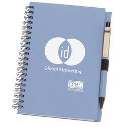 View a larger, more detailed picture of the Eco Design Recycled Notebook w Pen