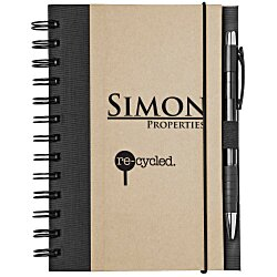 View a larger, more detailed picture of the Eco Design Recycled Color Spine Spiral Notebook