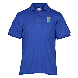 View a larger, more detailed picture of the Gildan 5 6 oz DryBlend 50 50 Jersey Pocket Polo