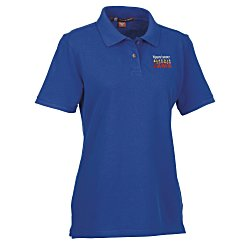 View a larger, more detailed picture of the Harriton 6 oz Ringspun Cotton Pique Polo - Ladies