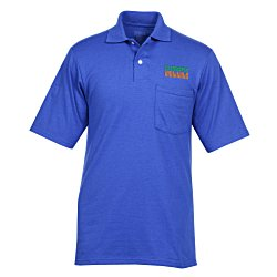 View a larger, more detailed picture of the Jerzees SpotShield Jersey Shirt w Pocket