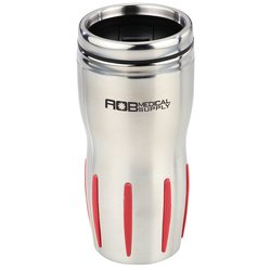 View a larger, more detailed picture of the Stainless Rib-Grip Tumbler - 16 oz 
