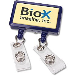 View a larger, more detailed picture of the Dual Strap Retractable Badge Holder