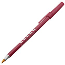 View a larger, more detailed picture of the Bic Round Stic Pen - Metallic - 24 hr
