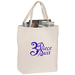 View a larger, more detailed picture of the Oversized 12 oz Cotton Canvas Tote Bag
