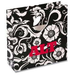 View a larger, more detailed picture of the Round Handle Gift Bag - Paisley
