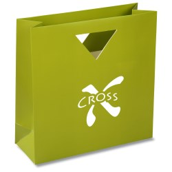 View a larger, more detailed picture of the Triangle Handle Gift Bag - Solid