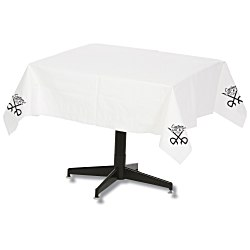 View a larger, more detailed picture of the Tablecloth w Plastic Backing - 54 x 54