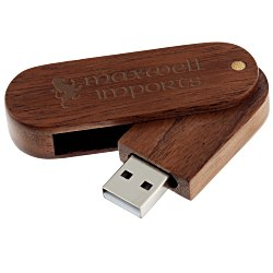 View a larger, more detailed picture of the Wood Swing USB Drive - 4GB