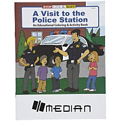View a larger, more detailed picture of the A Visit to the Police Station Coloring Book