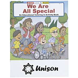 View a larger, more detailed picture of the We Are All Special Coloring Book