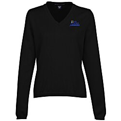 View a larger, more detailed picture of the Devon & Jones V-Neck Sweater - Ladies