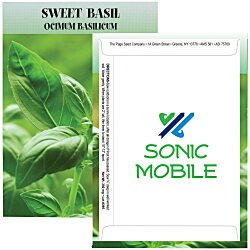 View a larger, more detailed picture of the Standard Series Seed Packet - Sweet Basil
