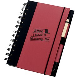View a larger, more detailed picture of the Recycled Color-Cover Spiral Notebook