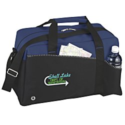 View a larger, more detailed picture of the Two-Tone Duffel Bag - Embroidered