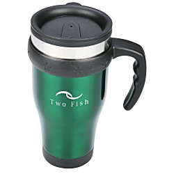 View a larger, more detailed picture of the Stainless Steel Travel Mug - 16 oz