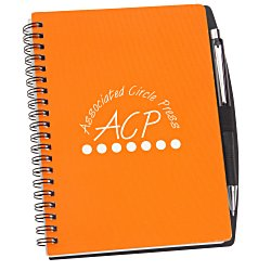 View a larger, more detailed picture of the Textured Notebook w Pen