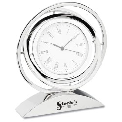 View a larger, more detailed picture of the Chrome Spinner Clock